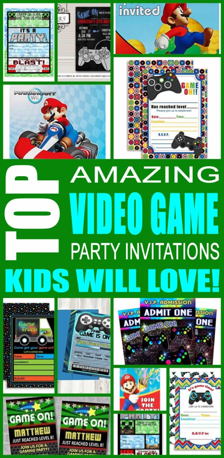 Video Game Party Invitations Kids Will Love