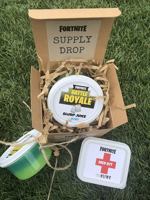 Fortnite Slime Party Favor Idea