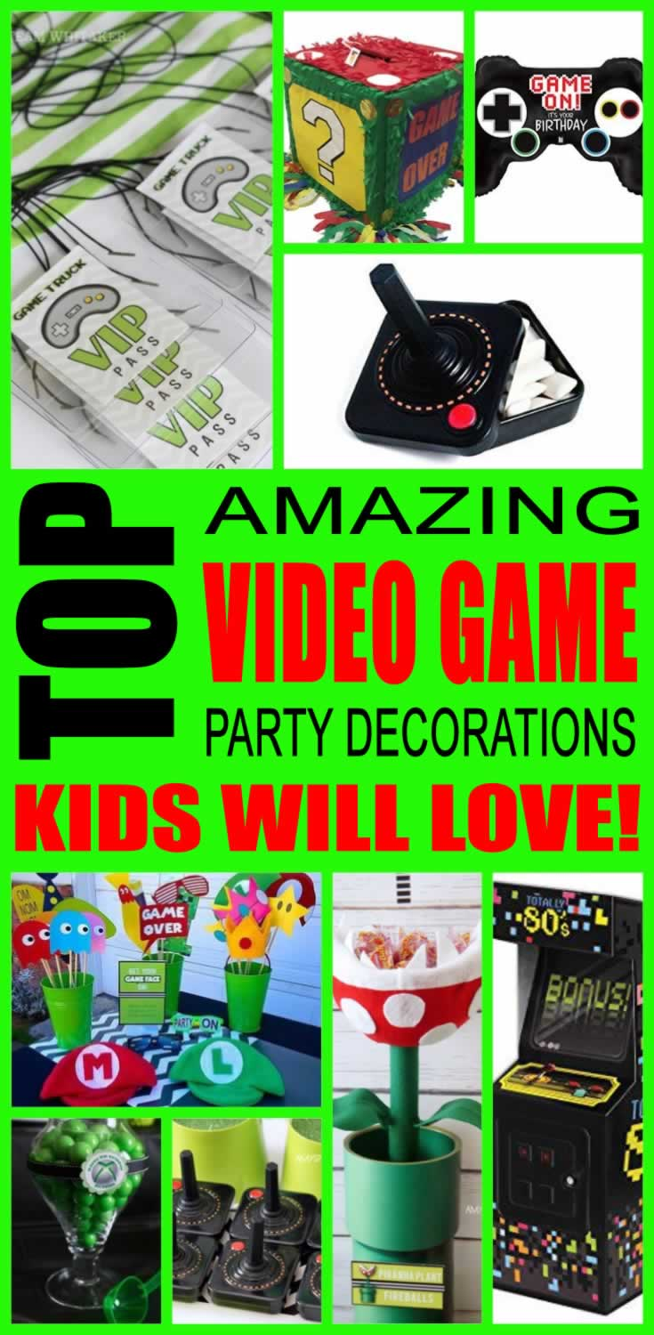 Video Game Birthday Party Decorations