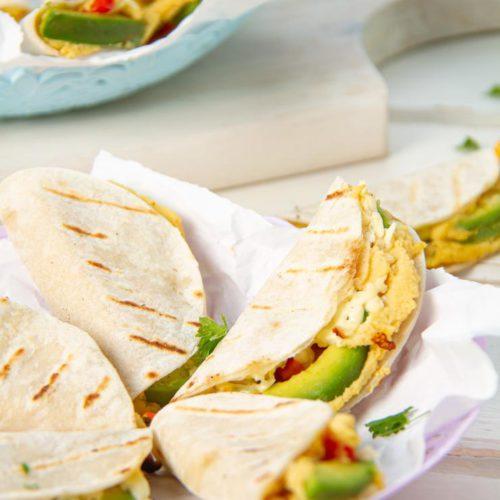 Mini Avocado and Hummus Quesadilla